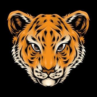 Lindo bebé cabeza de tigre