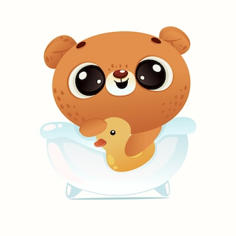 Lindo bebé ducha oso
