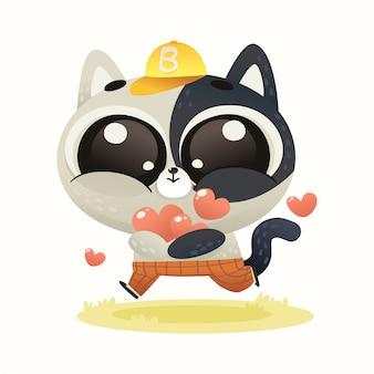 Lindo bebé gato amor