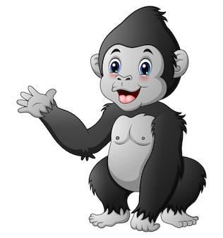 Lindo bebé gorila