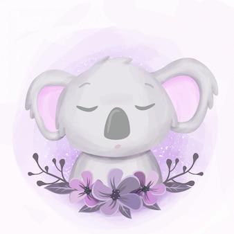Lindo bebé koala sleepy retrato