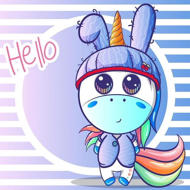 Lindo bebé niño unicornio