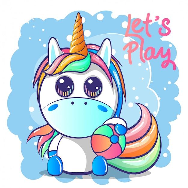 Lindo bebé unicornio