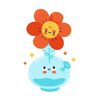 Lindo bong feliz con personaje de flor