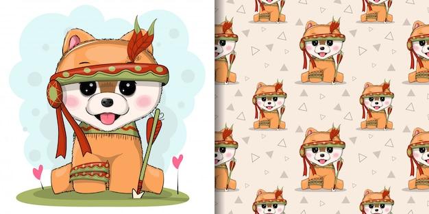 Lindo cachorro con apache personalizado