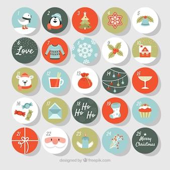 Lindo calendario navideño de adviento