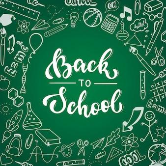 Lindo cartel de 'back to school', banner, impresión