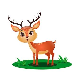 Lindo ciervo en la hierba