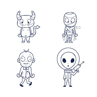 Lindo colorante para niños con extraterrestres