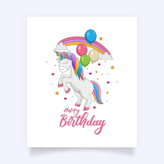 Un lindo y colorido unicornio con hermosos accesorios