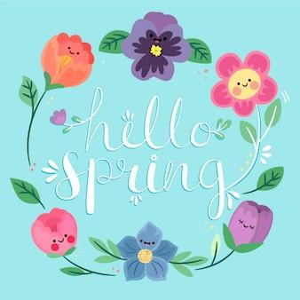 Lindo concepto de primavera hola