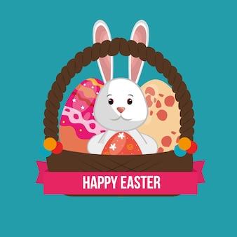 Lindo conejo feliz pascua