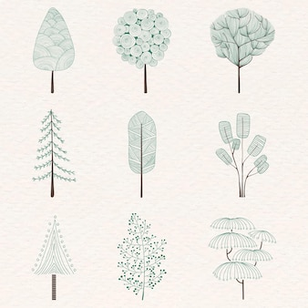 Lindo conjunto de árbol de pino