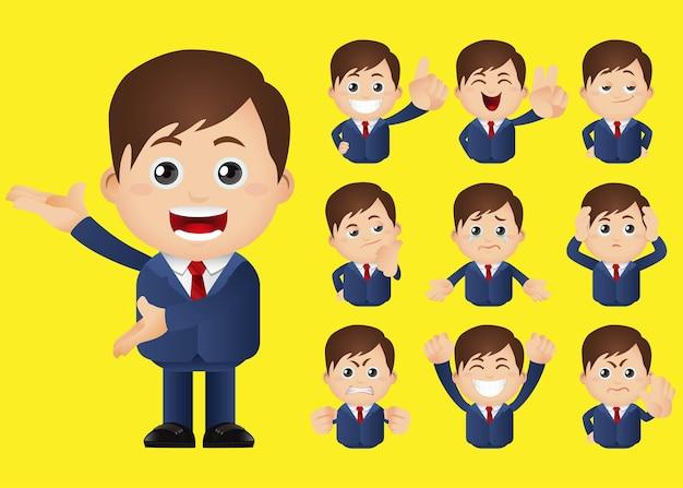 Lindo conjunto de empresarios