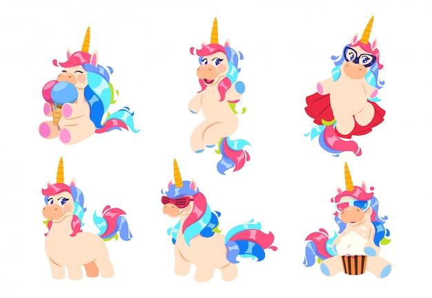 Lindo conjunto de unicornio mágico