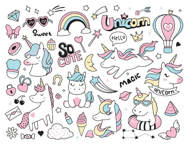 Lindo conjunto de unicornio