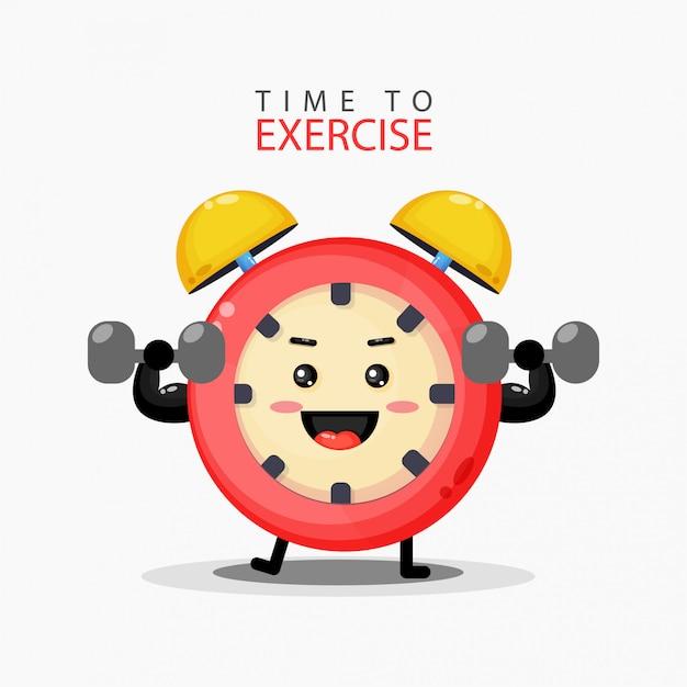 Lindo despertador está haciendo ejercicio