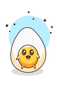 Un lindo dibujo a mano ilustración de huevo