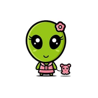 Lindo diseño alienígena