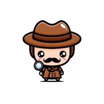 Lindo diseño de detective