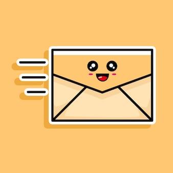 Lindo diseño de dibujos animados de correo electrónico
