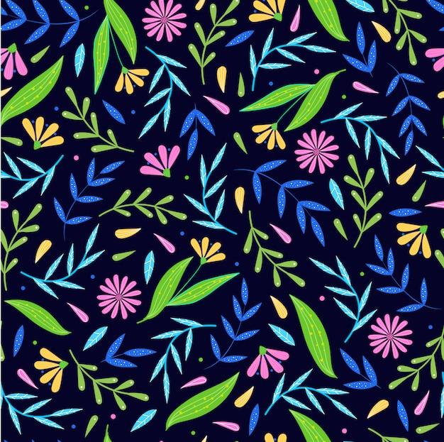 Lindo diseño floral sin fisuras / patrón repetido