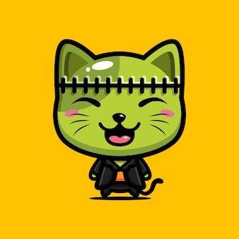 Lindo diseño de gato frankenstein
