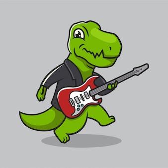 Lindo diseño de mascota de cultura urbana dino t rex