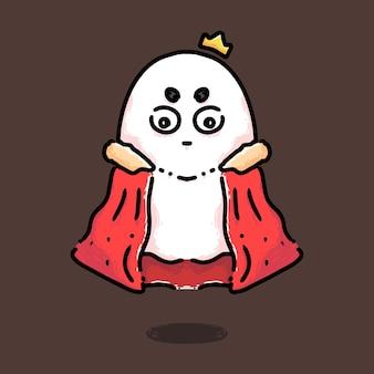 Lindo diseño de personaje real rey fantasma