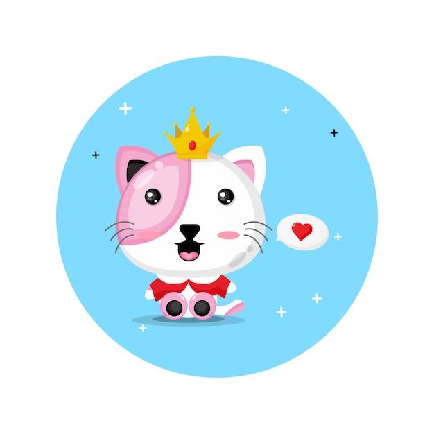 Lindo diseño de rey gato