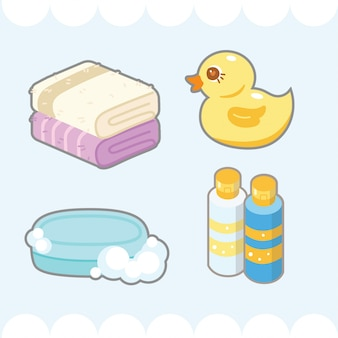 Lindo elemento de baño