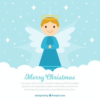 Lindo fondo con ángel navideño