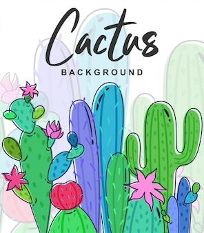 Lindo fondo de cactus
