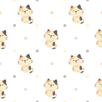Lindo gato sin fisuras de fondo