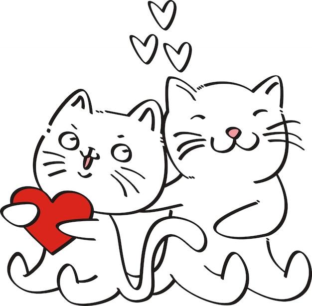 Lindo gato ilustración vectorial para niños