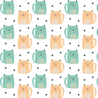 Lindo gato pequeño patrón