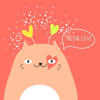 Lindo gato y texto