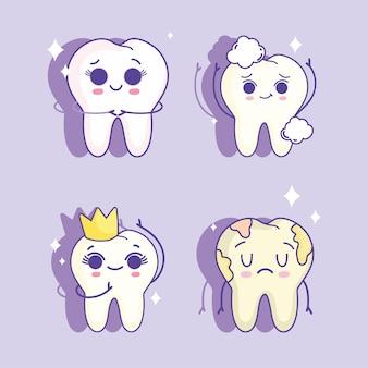 Lindo juego de dientes
