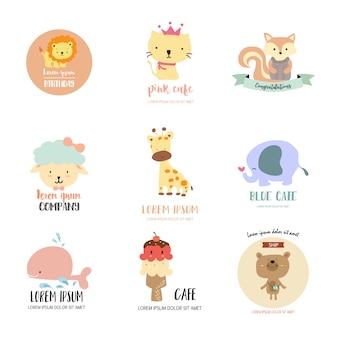 Lindo logo animal para tienda de niños.