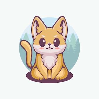 Lindo logo de gato