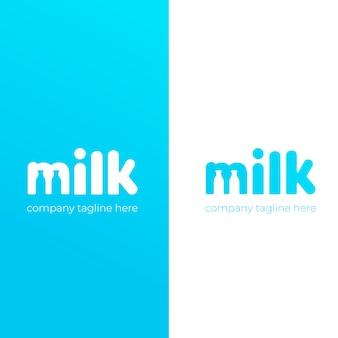 Un lindo logo simple para la marca de leche de vaca.