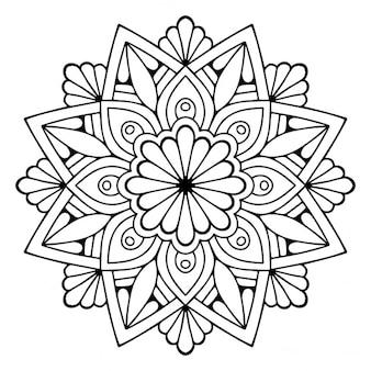 Lindo mandala floral