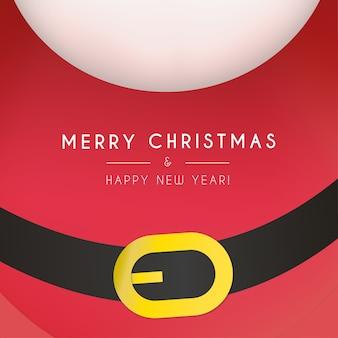 Lindo marco navideño con fondo de claus
