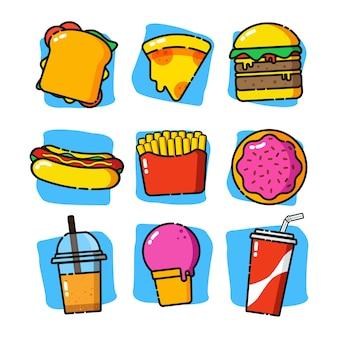 Lindo menú de comida rápida
