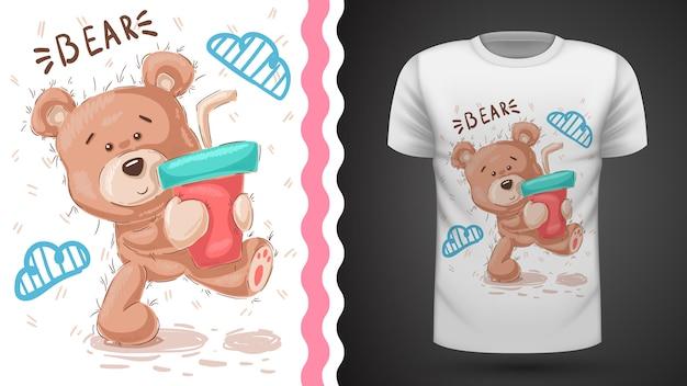 Lindo osito de peluche - idea para imprimir camiseta