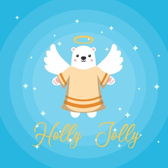 Lindo oso ángel