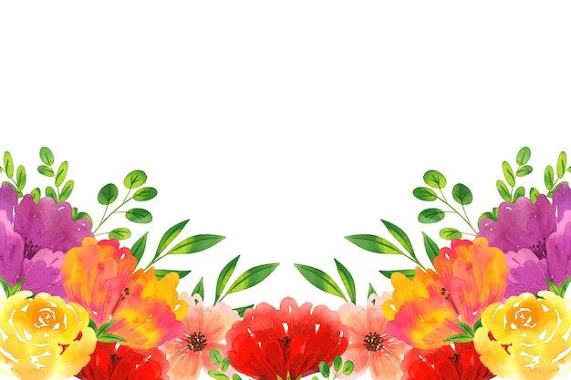 Lindo papel tapiz floral acuarela