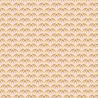 Lindo patrón de arte de oro rosa