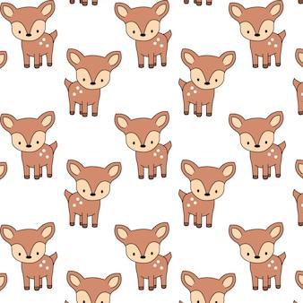 Lindo patrón de ciervo bebé