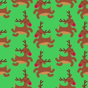 Lindo patrón de ciervos de navidad.